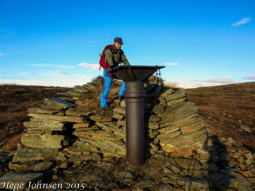 Enden av en vassrenne som jeg antar sørget for vannforsyningen til gruva.